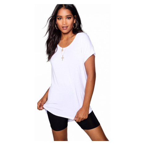 Biele oversized tričko Boohoo