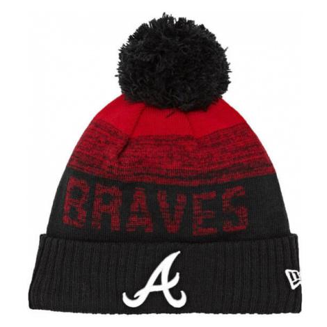 Zimná čapica New Era MLB Sport 2 Cuff Knit Atlanta Braves Black Red - Veľkosť:UNI