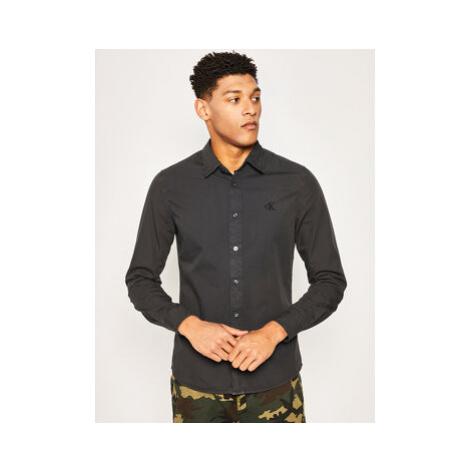 Calvin Klein Jeans Košeľa J30J315224 Čierna Slim Fit