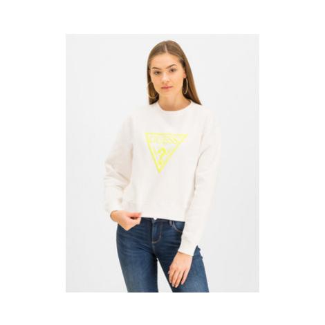 Guess Mikina Neon Fleece W01Q56 K68I0 Biela Regular Fit