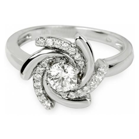 Silver Cat Strieborný prsteň s kryštálmi SC040 mm