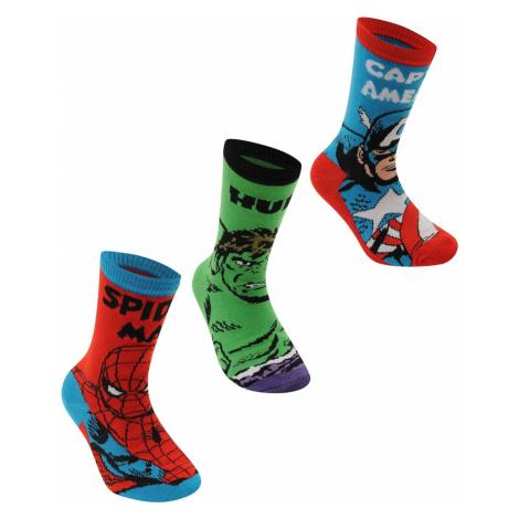 Marvel 3 Pack Crew Socks Childrens