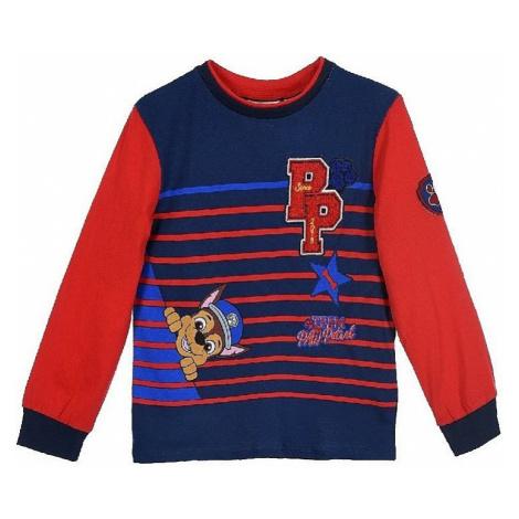 Tlapková patrola červeno / modré pruhované tričko