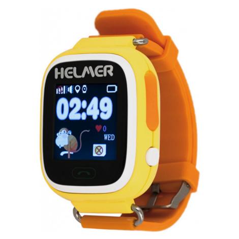 Helmer Chytré dotykové hodinky s GPS lokátorem LK žluté