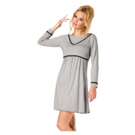 Luxusná dámska nočná košeľa Chloe sivá Passion