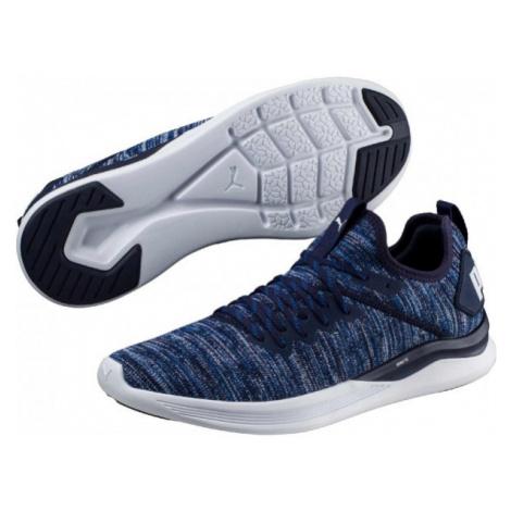Puma IGNITE FLASH EVOKNIT modrá - Pánska voľnočasová obuv