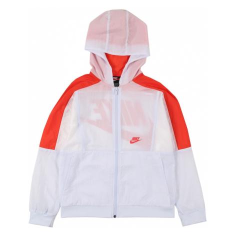 Nike Sportswear Prechodná bunda  biela / červená