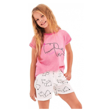 Dievčenské pyžamo Hanička ružové dog Taro