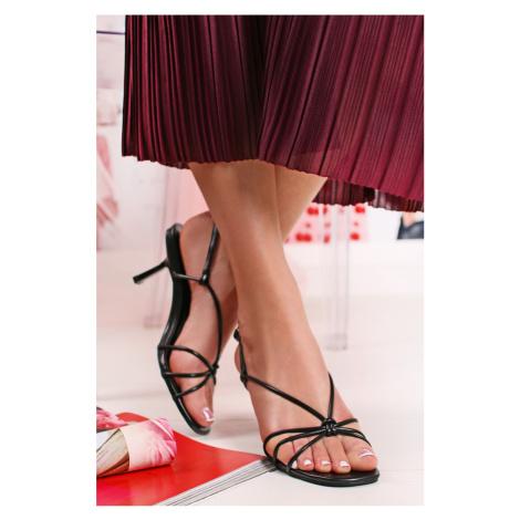 Čierne sandále Vinnie Bestelle