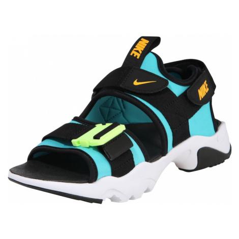 Nike Sportswear Sandále 'Canyon'  biela / tyrkysová / čierna