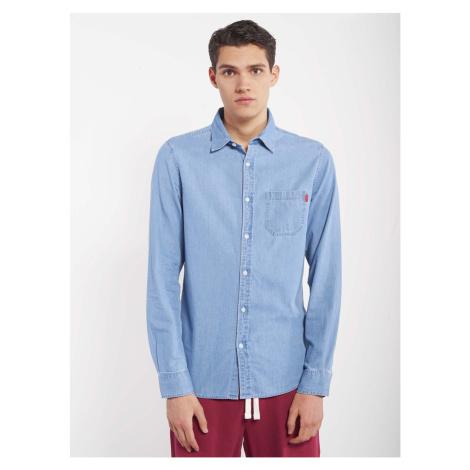 Modrá pánska džínsová košeľa Alcott