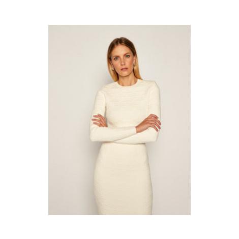 Elisabetta Franchi Komplet sweter i spódnica ołówkowa KC-14Q-06E2-V699 Béžová Slim Fit