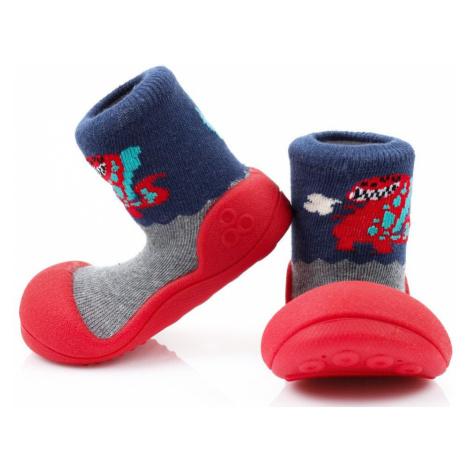 ATTIPAS Chlapčenské topánočky Dinosaur, veľ. - červená