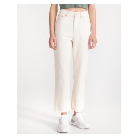 Biele dámske džínsy bootcut