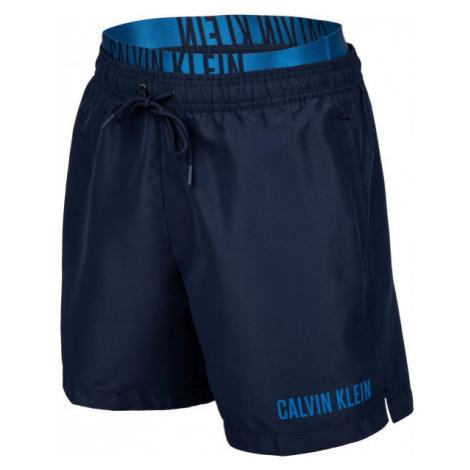 Calvin Klein MEDIUM DOUBLE WB tmavo modrá - Pánske šortky do vody