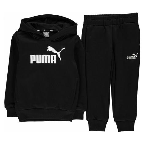 Puma Hooded Jogger Fleece Tracksuit Infant Boys Black/White