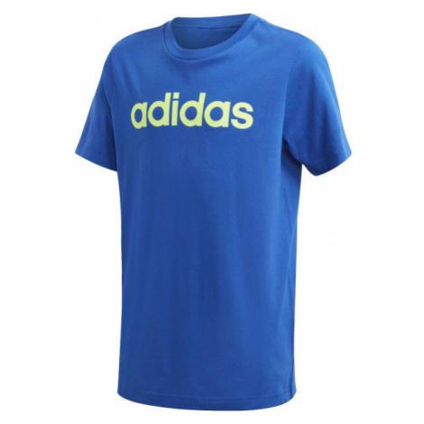 adidas YB E LIN TEE modrá - Chlapčenské tričko