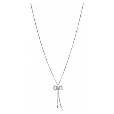 Liu.Jo Oceľový náhrdelník s mašličkou LJ1287