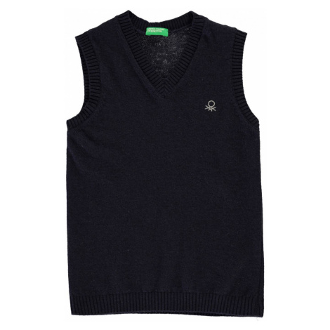 Benetton KW Sleeveless Cardigan Navy United Colors of Benetton