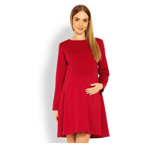 Červené tehotenské šaty 1359C PeeKaBoo