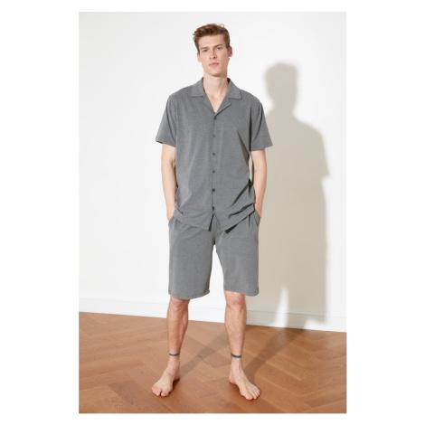 Trendyol Anthracite Knitted Pyjama Set