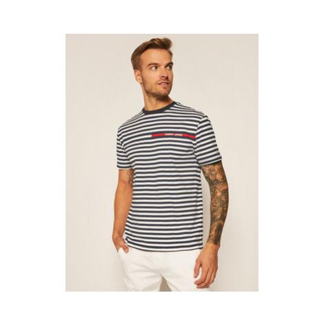 Tommy Jeans Tričko Branded Stripe Tee DM0DM08449 Tmavomodrá Regular Fit Tommy Hilfiger