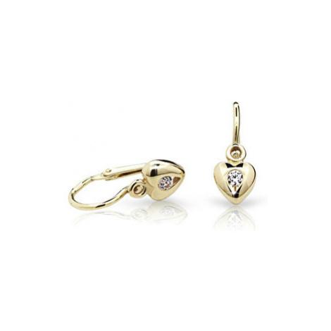 Cutie Jewellery Detské náušnice C1556-10-X-1 bílá