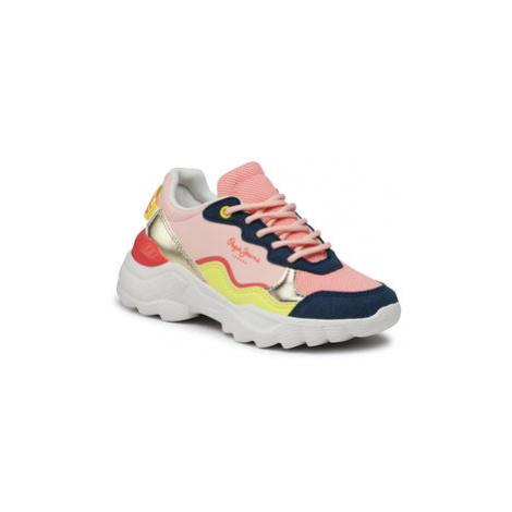 Pepe Jeans Sneakersy Eccles Junior Summe PGS30490 Ružová
