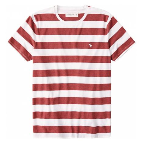 Abercrombie & Fitch Tričko  červená / biela