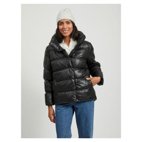 Čierna zimná prešívaná bunda VILA