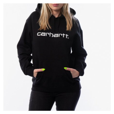 Carhartt WIP W' Hooded Sweatshirt I027476 BLACK/WHITE