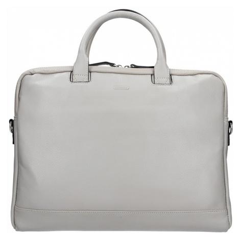 Dámska kožená taška na notebook Katana Emma - šedá