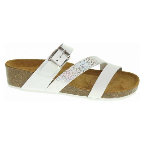 Dámské pantofle Presso 21-191-75896-02 white 21-191-75896-02 Rejnok
