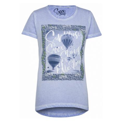 Soccx Tričko 'Glitter Artwork'  nebesky modrá