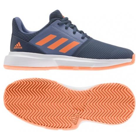 Juniorská Tenisová Obuv Adidas Courtjam Xj Blue