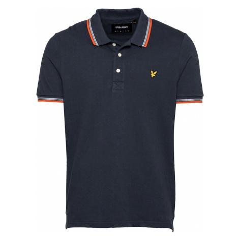 Lyle & Scott Tričko  oranžová / námornícka modrá / biela