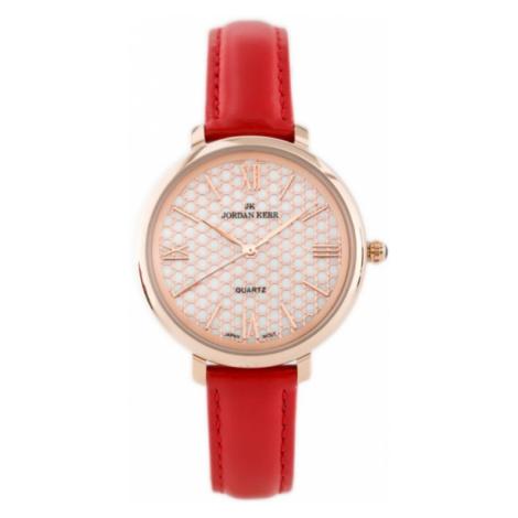 Dámske hodinky s červeným remienkom Jordan Kerr 8240L-C