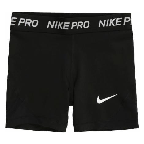 NIKE Športové nohavice  biela / čierna