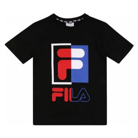 FILA Tričko 'CAMILLA'  čierna / svetločervená / biela / neónovo fialová