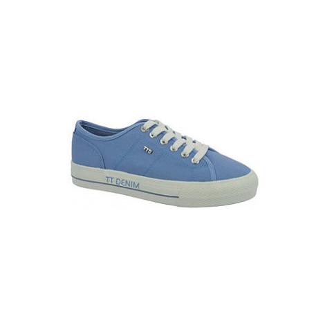 Modré plátenné tenisky Tom Tailor