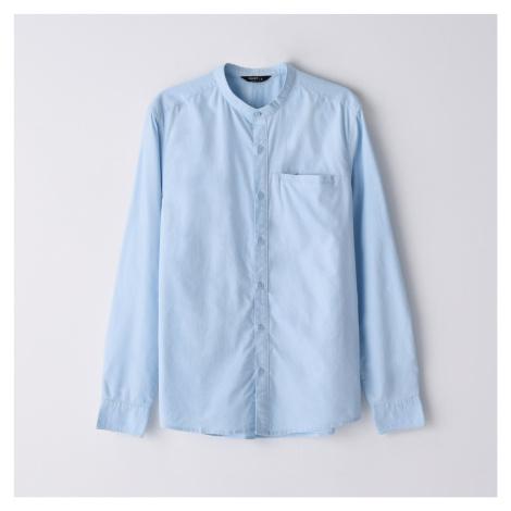Cropp - Košeľa so stojačikom - Modrá