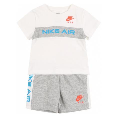 NIKE Športový úbor  sivá melírovaná / biela / oranžová / modrá