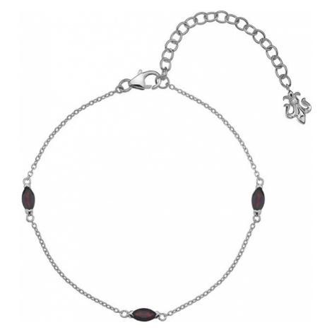 Hot Diamonds Strieborný náramok pre narodené v januári Anais Granát AB001