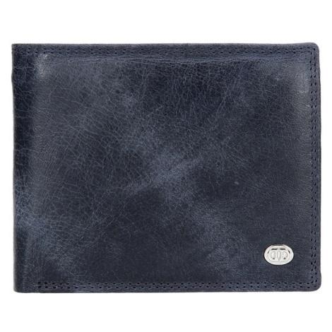 Pánska kožená peňaženka DD Anekta Robin - modrá