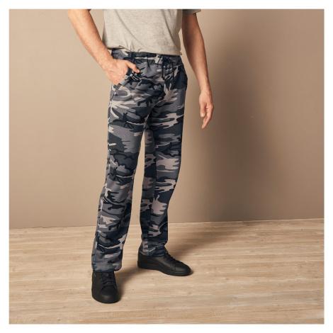 Blancheporte Meltonové nohavice, rovný spodný lem sivá