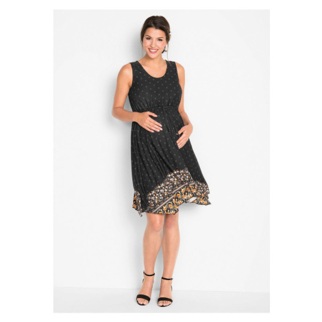 Tehotenské úpletové šaty