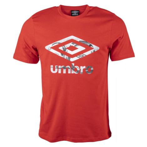 Umbro FW PHOTO GRAPHIC TEE červená - Pánske tričko