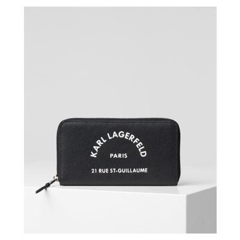 Peňaženka Karl Lagerfeld Rue St Guillaume Cont Zip Wlt - Čierna