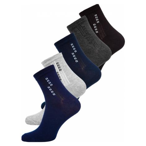Farebné pánske ponožky Bolf  X10172-5P 5 PACK JUSTPLAY