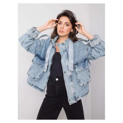 RUE PARIS Women's light blue denim jacket